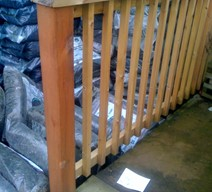 1.2m x 90 x 90 square treated decking newel post