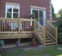 2.4m x 95 x 95 square treated deckpost