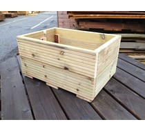 600 x 400 x 300mm decking planter assembled