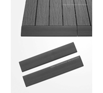 UltraShield Grey Deck Tile Fascia Straight