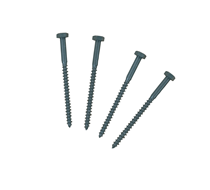 Coach Screw M7 x 100mm Hex Head Pack 4