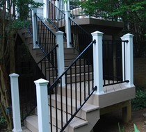 "Fortress 96"" FE26 handrail for stairs (push over type)"