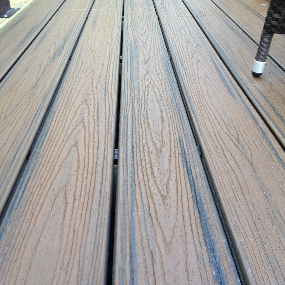 Trex transcend spiced rum decking boards for Composite decking planks