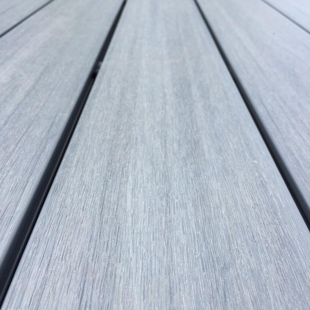 Ultrashield grey composite decking boards for Grey composite decking