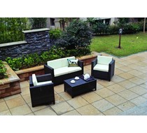 Rattan Brown 4 Piece Sofa Set FLAT PACKED