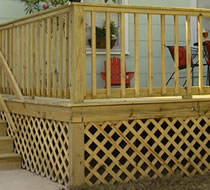 Decking Skirting (covering under raised deck)